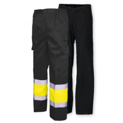 Pantalón multibolsillos combinado con forro A.V.