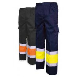 Pantalón multibolsillos combinado A.V.